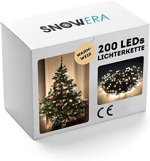 10m LED Lichterkette Christbaum Weihnachtsbaum Deko Beleuchtung für Innen Außen
