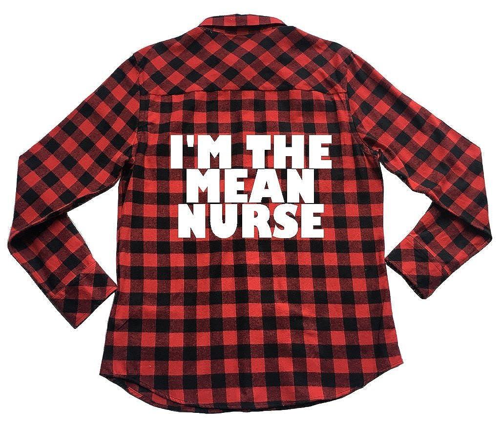 Unisex Plaid Flannel Shirt Nursing Humor Apple Orange Gifts Im The Mean Nurse/
