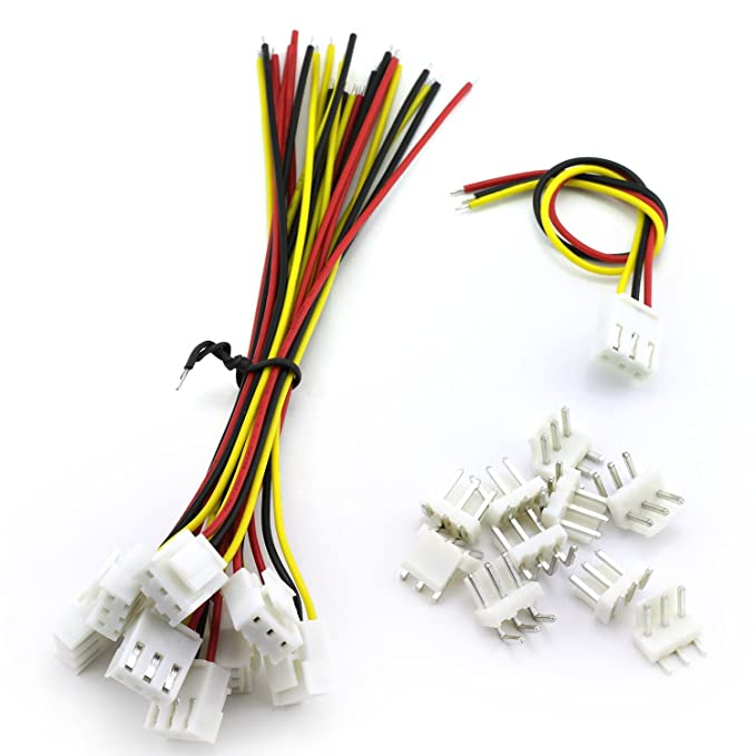 Magic/&Shell 10 Sets 3.96mm VH Plug Cable Single Head 3Pin Terminal Wire Medical Devices Wire LED Display Mainboard Electric Wire 150mm Curved 3P Male Header Connector