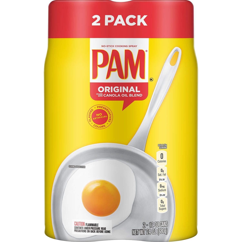 Pam Original No-Stick Cooking Spray, 12 oz., Can, 2 ct.