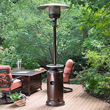 Red Ember Red Ember Hammered Commercial Patio Heater With Table, Bronze