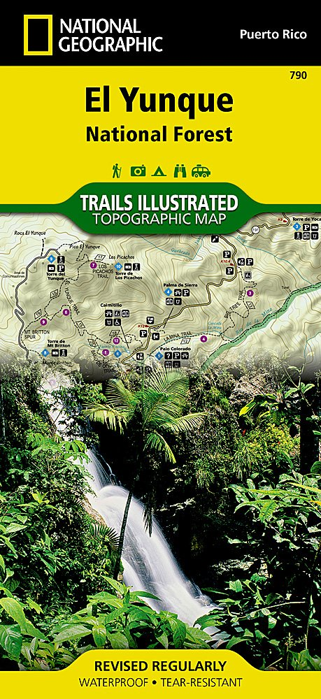 El Yunque National Forest: Trails Illustrated Other Rec. Areas National Forest/BLM Idioma Inglés : 790: Amazon.es: Maps, National Geographic: Libros en idiomas extranjeros