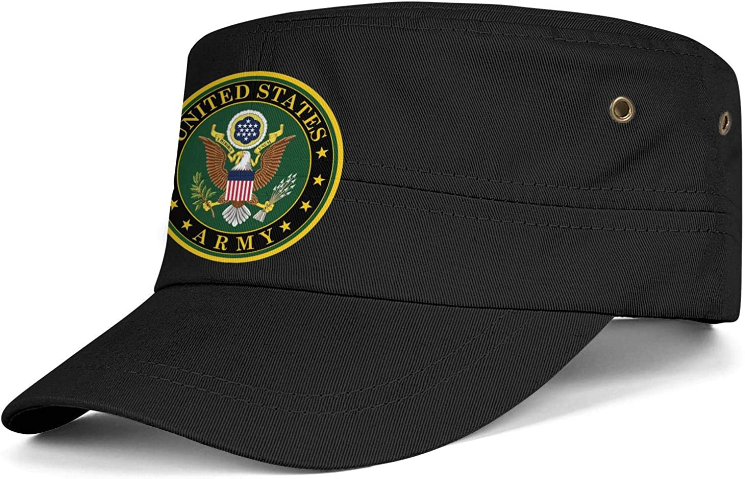 United States Army Logo Army Cap Cadet Corps Hat Military Flat Top Adjustable Baseball Cap Cotton