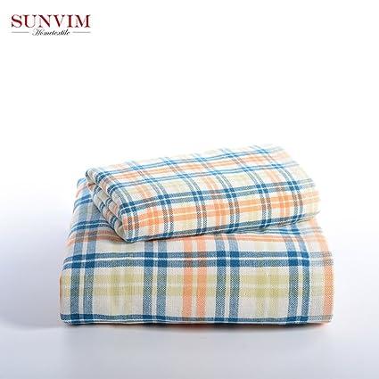 SeeParts SPH-078-1 - Juego de toallas de baño (100% algodón