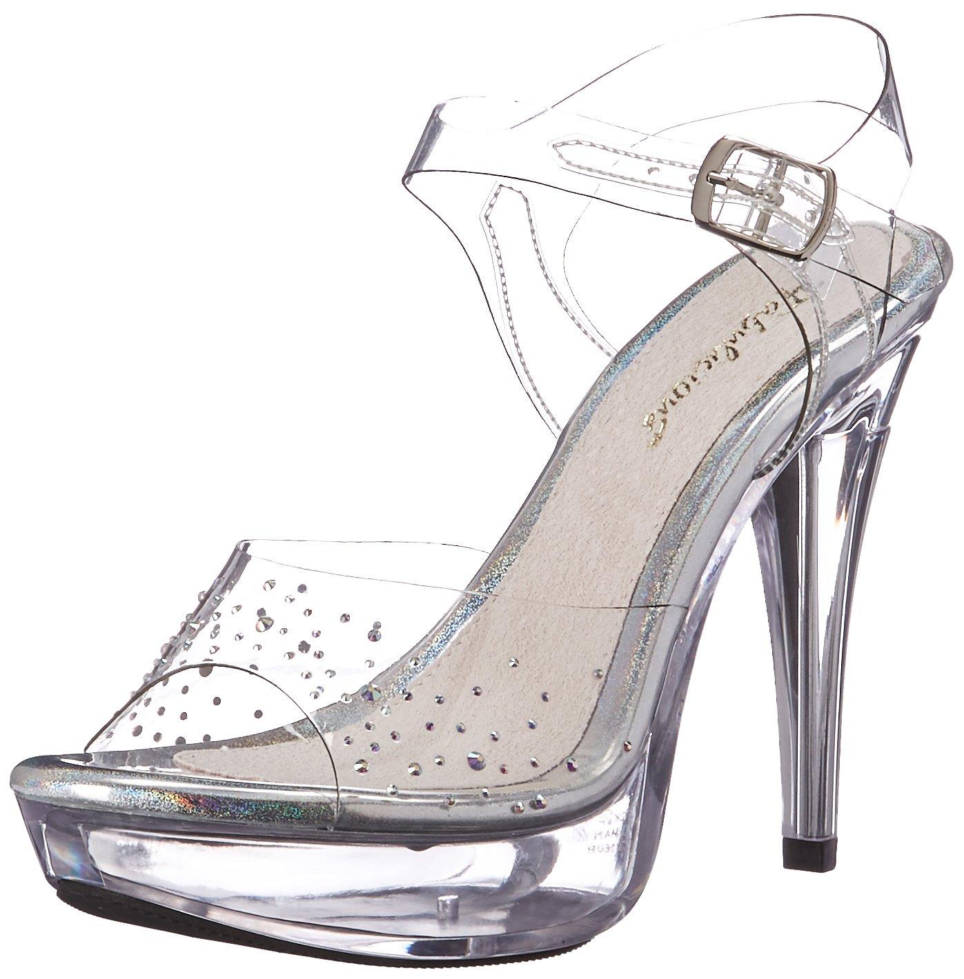 Pleaser Women's Ctail508sd/c/m Platform Sandal B06XGYB18V 6 B(M) US|Clr/Clr