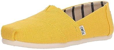 236fcb325d4dc TOMS Classic Yellow White Womens Espadrilles Shoes: Amazon.co.uk ...