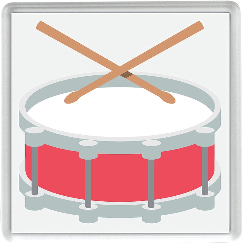 tambor con baquetas Emoji Pack de 4 de 80mm x 80mm posavasos ...