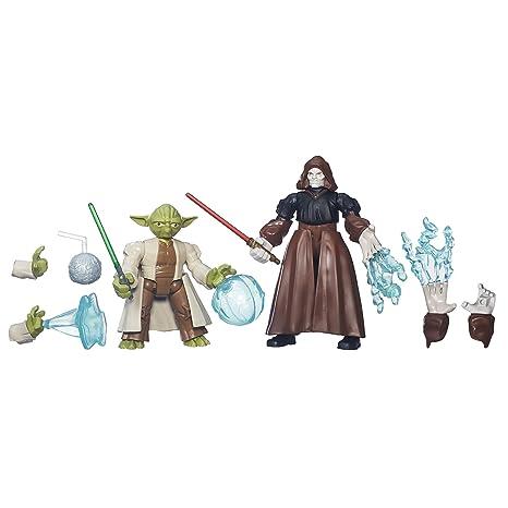 04030e4ed Amazon.com: Star Wars Hero Mashers Yoda vs. Emperor Palpatine: Toys & Games