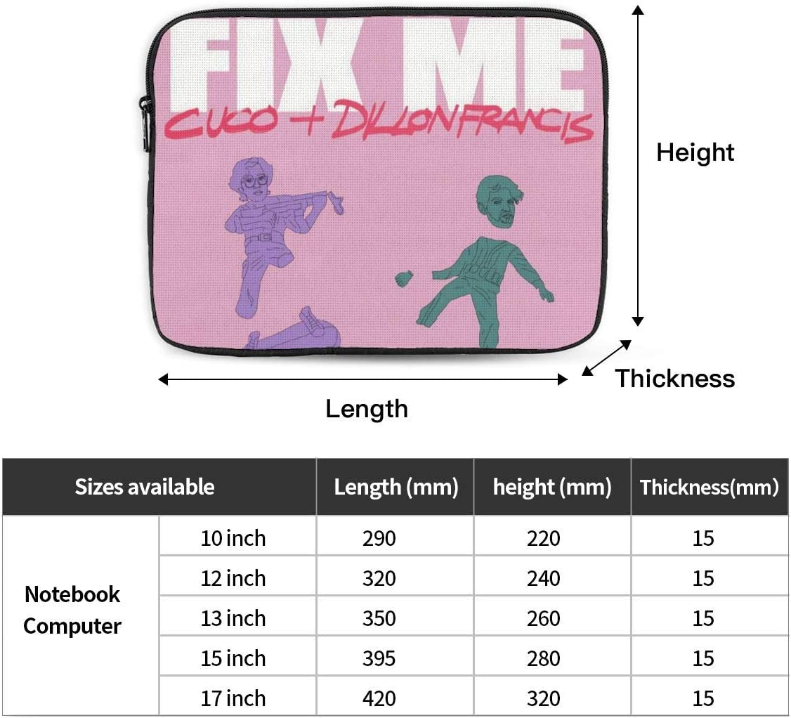 CUCO Fix Me 10-17 Inch Laptop Sleeve Case Protective Soft Padded Zipper Cover Carrying Computer Bag Compatible with iPad MacBook Ultrabook 17 inch