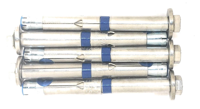 Fixe - Powers ステンレススチール 3/8インチ x 3 1/2インチ - 5点 ボルト - 5パック   B07JDGCDY5
