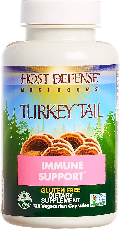 Host Defense – Turkey Tail Mushroom Capsules, Naturally Supports Immune Response, Non-GMO, Vegan, Organic, 120 Count