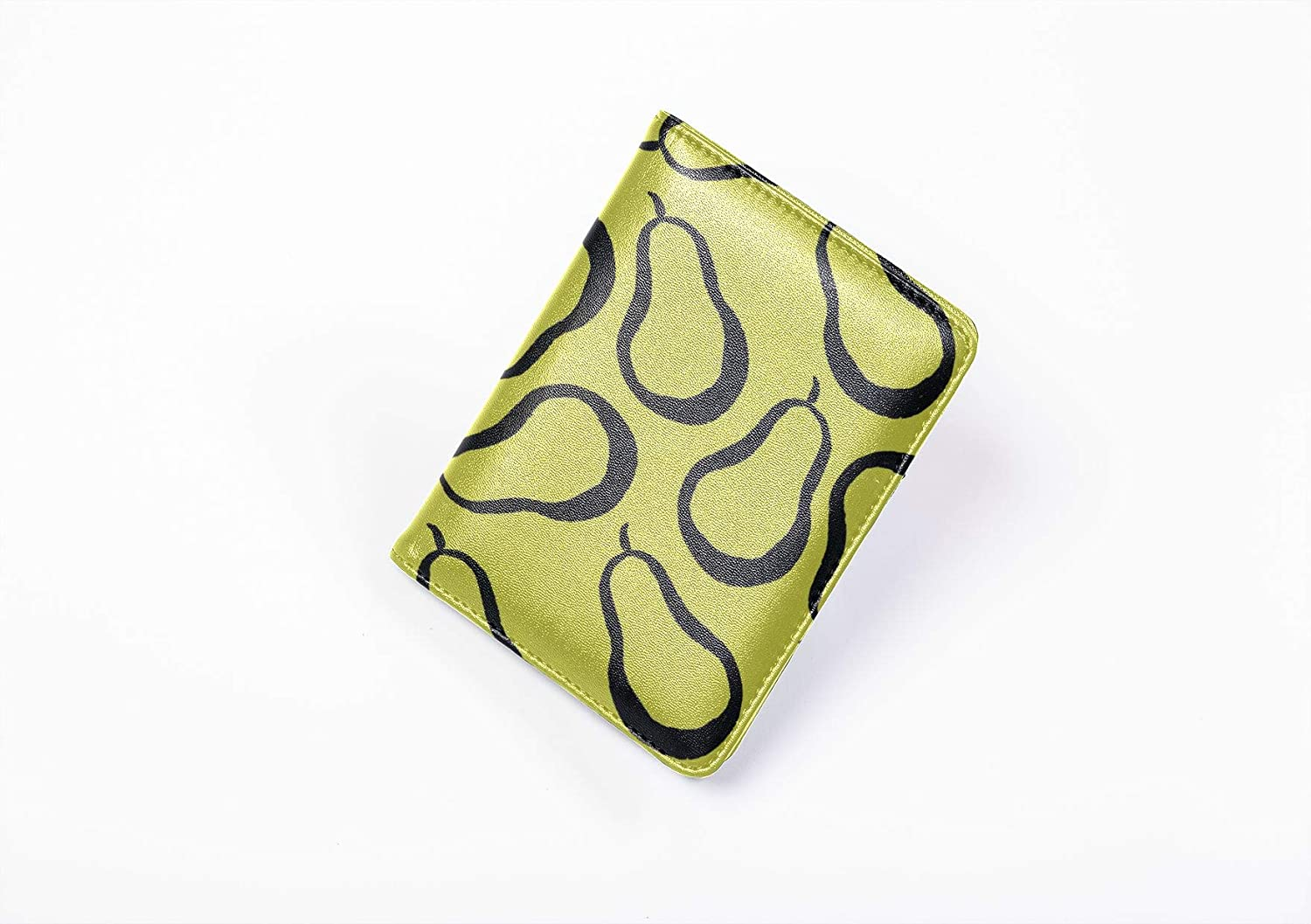 American Passport Cover Cute Summer Vintage Colorful Pear My Passport Case Multi Purpose Print Baby Passport Cover Travel Wallets For Unisex 5.51x4.37 Inch