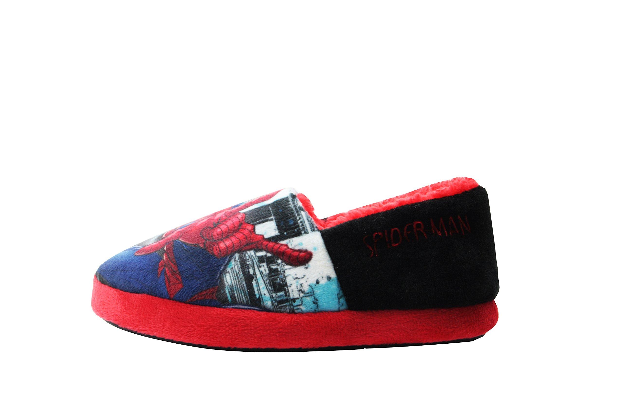 William Lamb Spiderman Boys Griggs Low Top Slippers Blue 9 UK Child