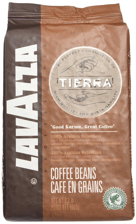 Lavazza Tierra! Intenso - Whole Bean Espresso Coffee, 2.2-Pound Bag - Pack of 2 by Lavazza