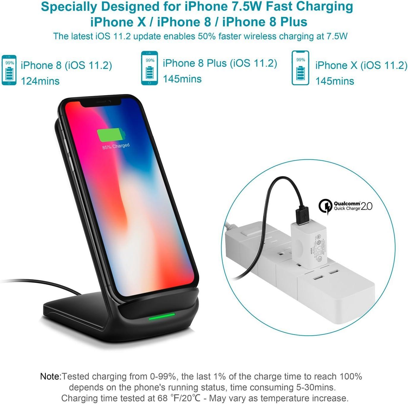 Amazon.com: Qi - Cargador inalámbrico rápido para Galaxy ...