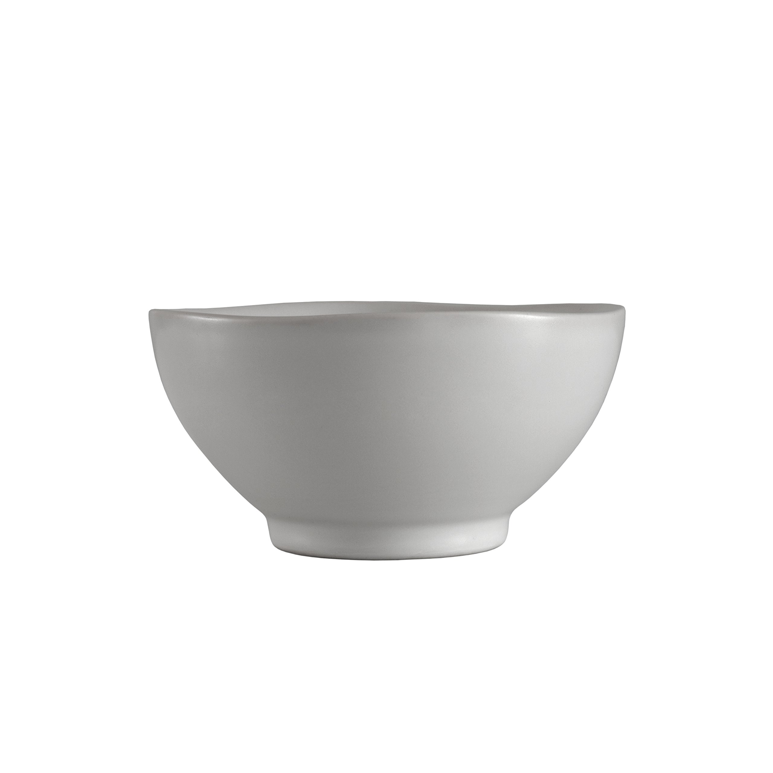 Fortessa Tableware Solutions STN.8000.5.54 Heirloom Inch Rice Bowl Matt Finish Vitraluxe Dinnerware, 5.5', Smoke