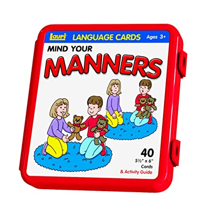 Mind Your Manners >> Amazon Com Lauri Photo Language Cards Mind Your Manners Toys Games