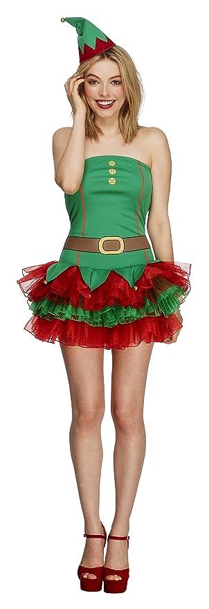 SmiffyS 26222S Disfraz Fever De Elfa Con Vestido Tutú Y Gorro ...
