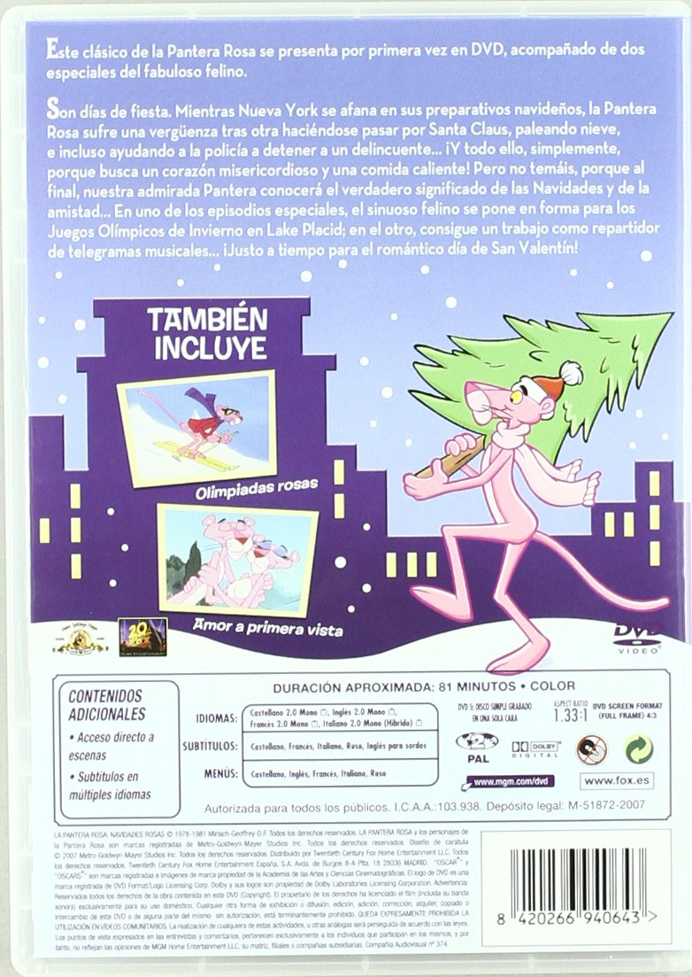 La pantera rosa: Navidades rosas [DVD]: Amazon.es: Personajes ...