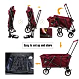REDCAMP Collapsible Utility Cart for