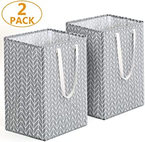 Tribesigns 96L Extra Large Laundry Hamper Collapsible Laundry Basket with Handle 4 Detachable Rods Cotton Linen Foldable Bathroom Storage Basket for Toys, Clothes (Geometric, 2)