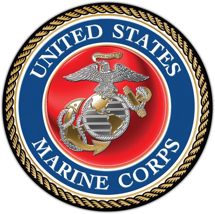 "Refrigerator Magnet - Giant Size - United States Marine Corp Official Seal (USMC Military) - Huge 11.5"" Diameter Magnet"