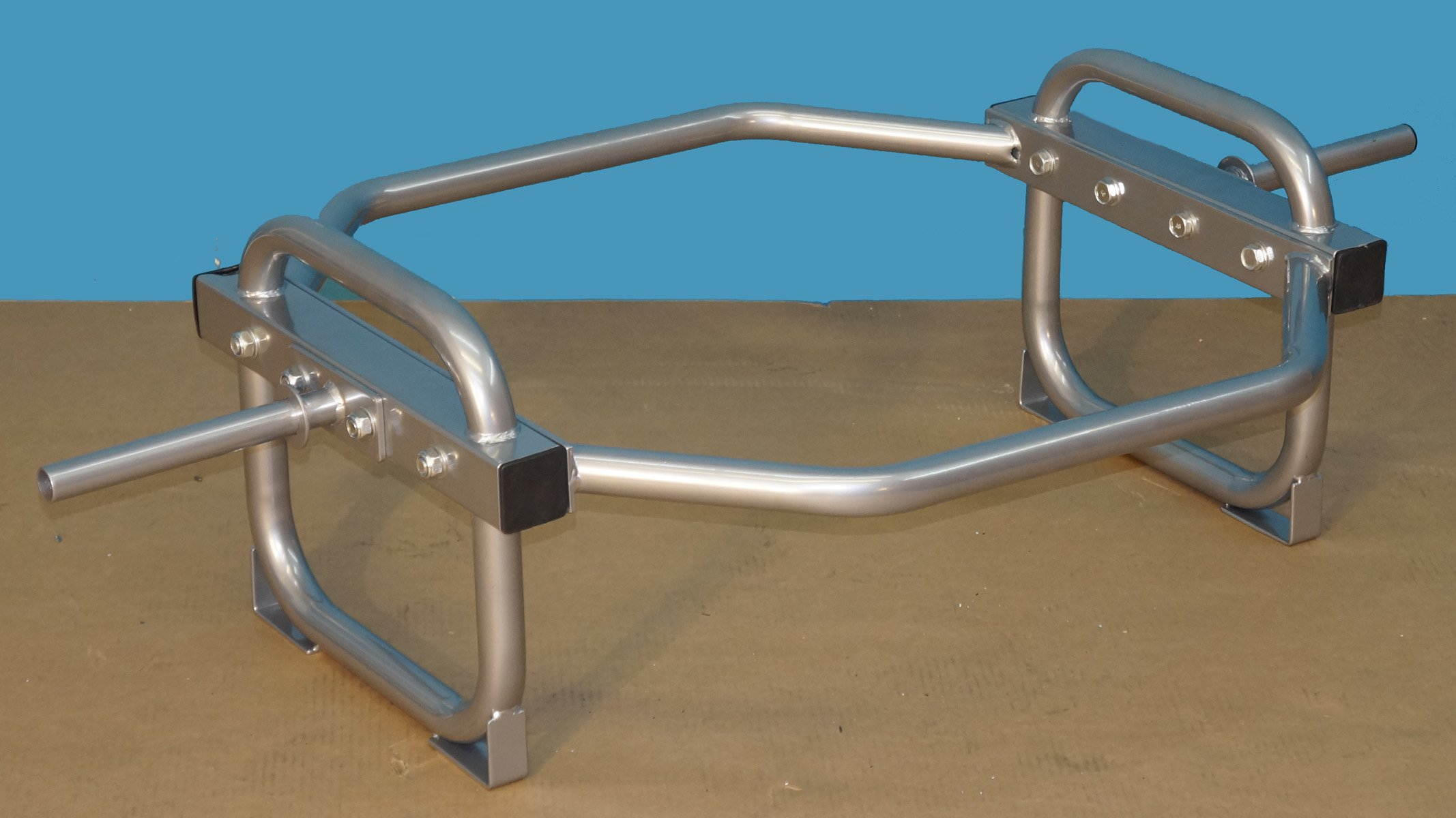TDS Shrug-Hip Bar with stand for Standard Plates - 400 Capacity