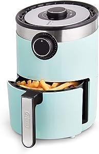 Dash DCAF250GBAQ02 AirCrisp Pro Electric Air Fryer + Oven Cooker with Temperature Control, Non Stick Fry Basket, Recipe Guide + Auto Shut Off Feature, 2qt, Aqua