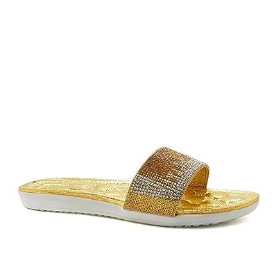 43ba530ae406e London Footwear Gisela  Gold