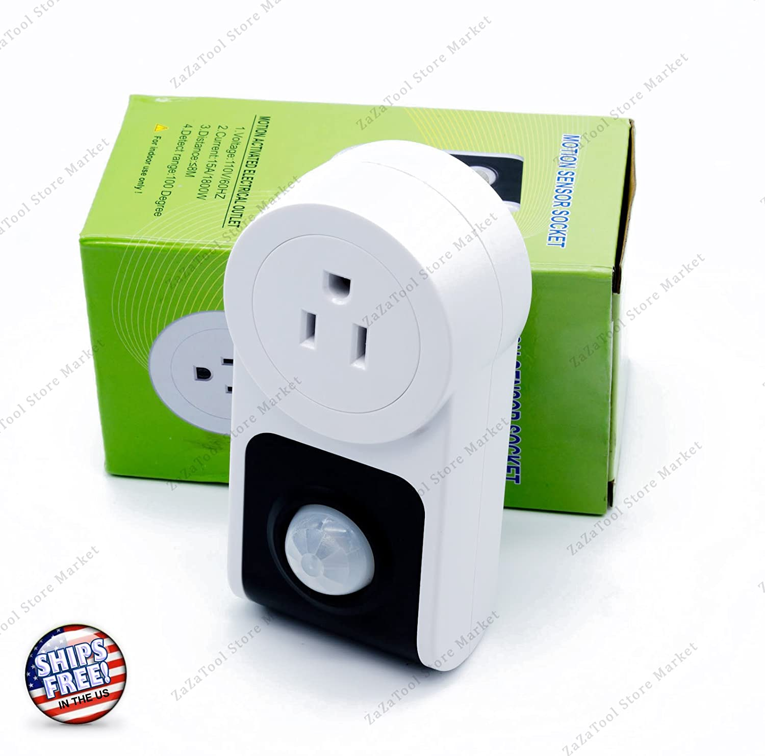 NEW Motion Sensor Activated Power Socket Electrical Outlet ...
