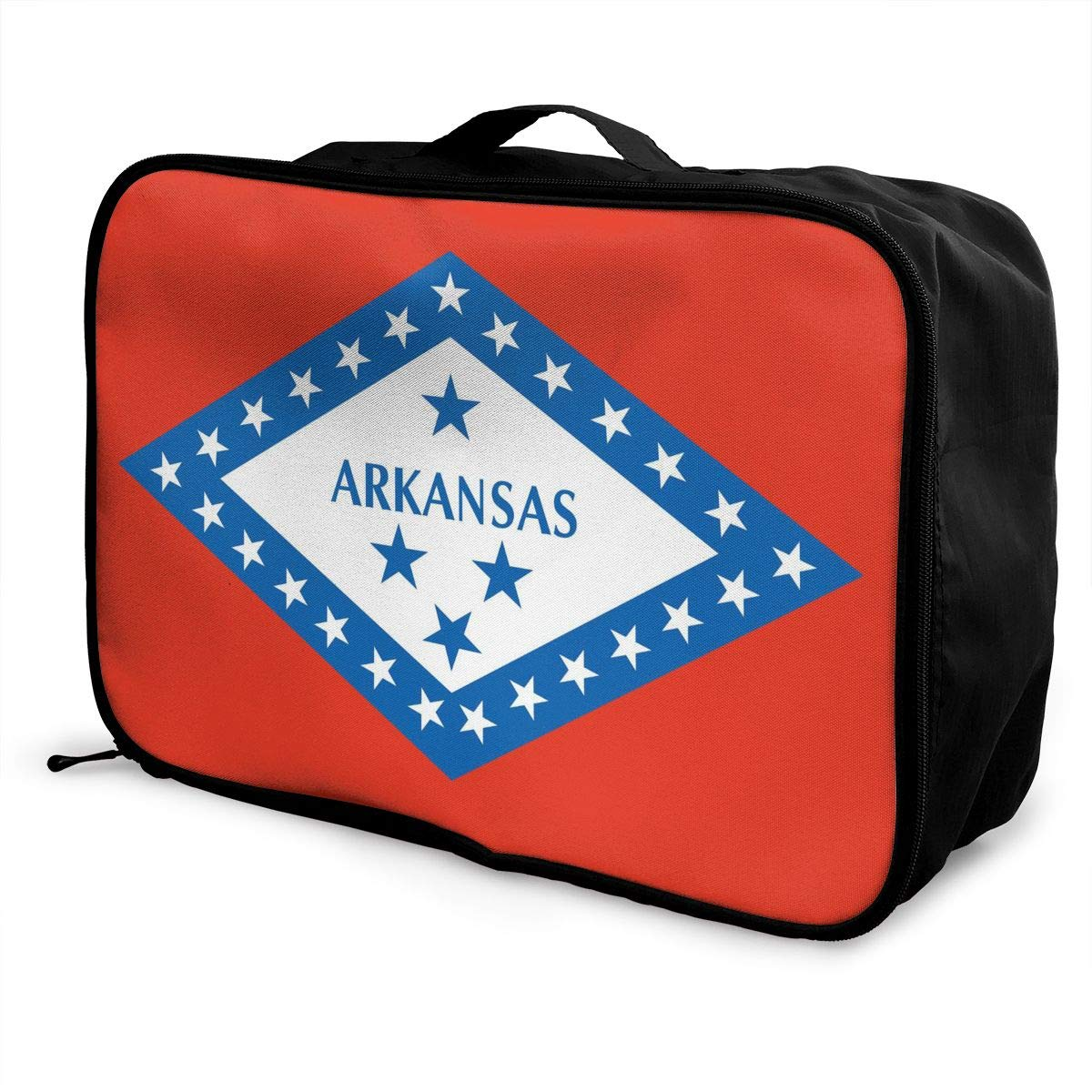 YueLJB Arkansas State Lightweight Large Capacity Portable Luggage Bag Travel Duffel Bag Storage Carry Luggage Duffle Tote Bag
