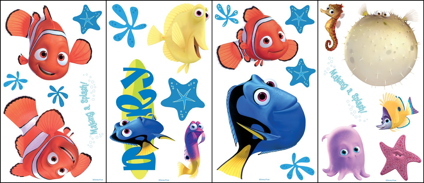Disney Finding Nemo   23 Wall Stickers / Accents: Amazon.co.uk: DIY U0026 Tools