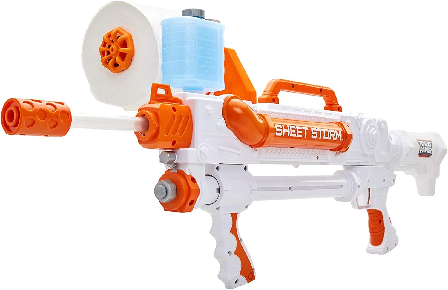 Toilet Paper Blaster Rapid-Fire Sheet Storm