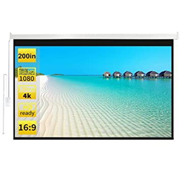 Pantalla de proyector de 200 Pulgadas HD Electric Motorised ...