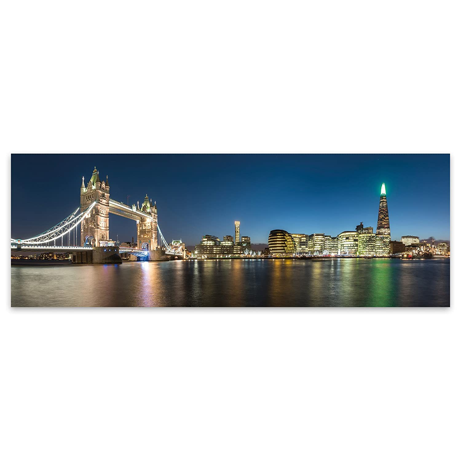 London Tower Bridge Stylish City Acrylic Glass Wall Art -120cm x 42cm LagunaProject