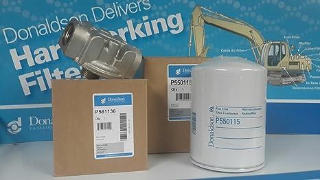 amazon com fuel filter kit donaldson p561136 head \u0026 p550115 filterfuel filter kit donaldson p561136 head \u0026 p550115 filter fuel transfer pump tank