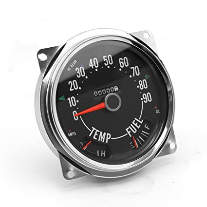17206 04 speedometer assembly, 0-90 mph, includes speedometer assembled  with fuel and tempature