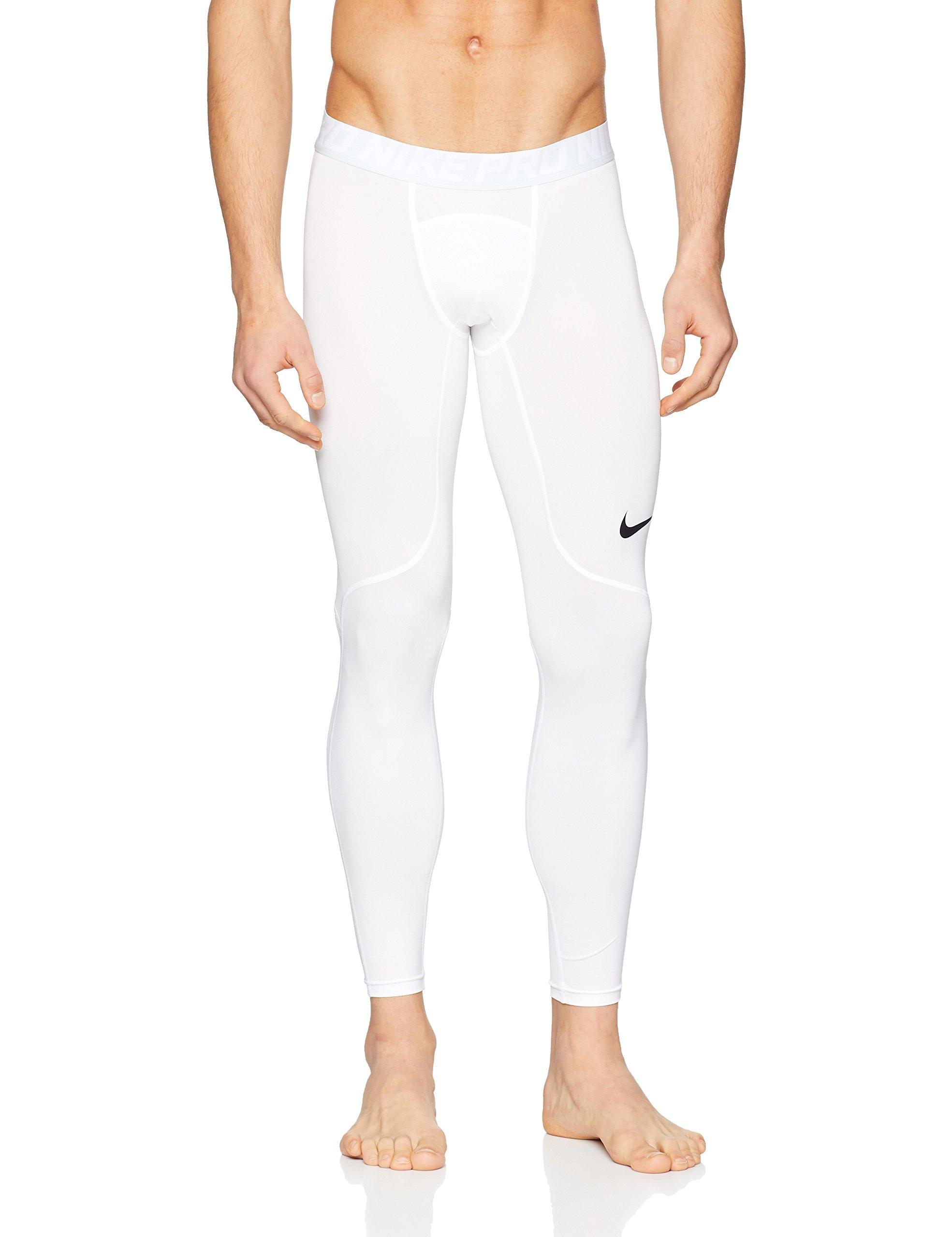 Nike Men's Pro Tights (White, M)