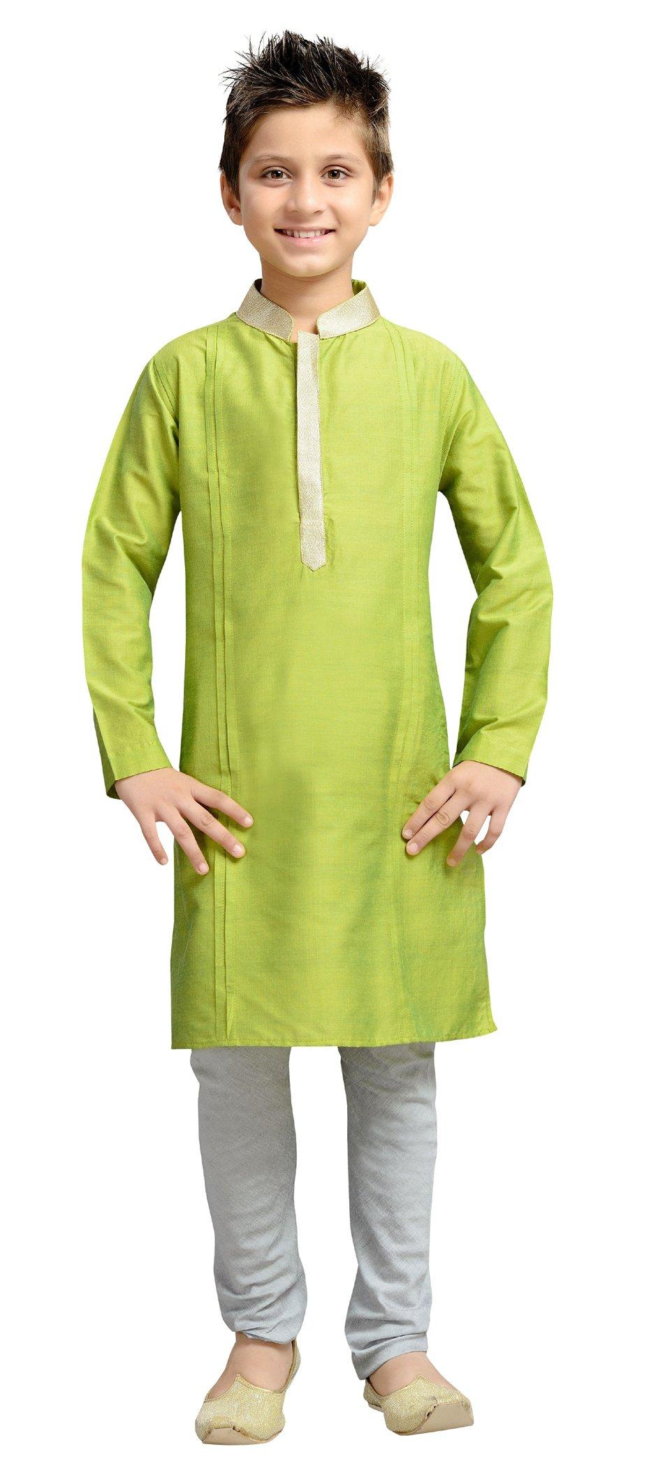 Cellora Churidar Kurta Pajama for 1-14 Years Kids Dupion Silk Party Wear Ethnic Dress
