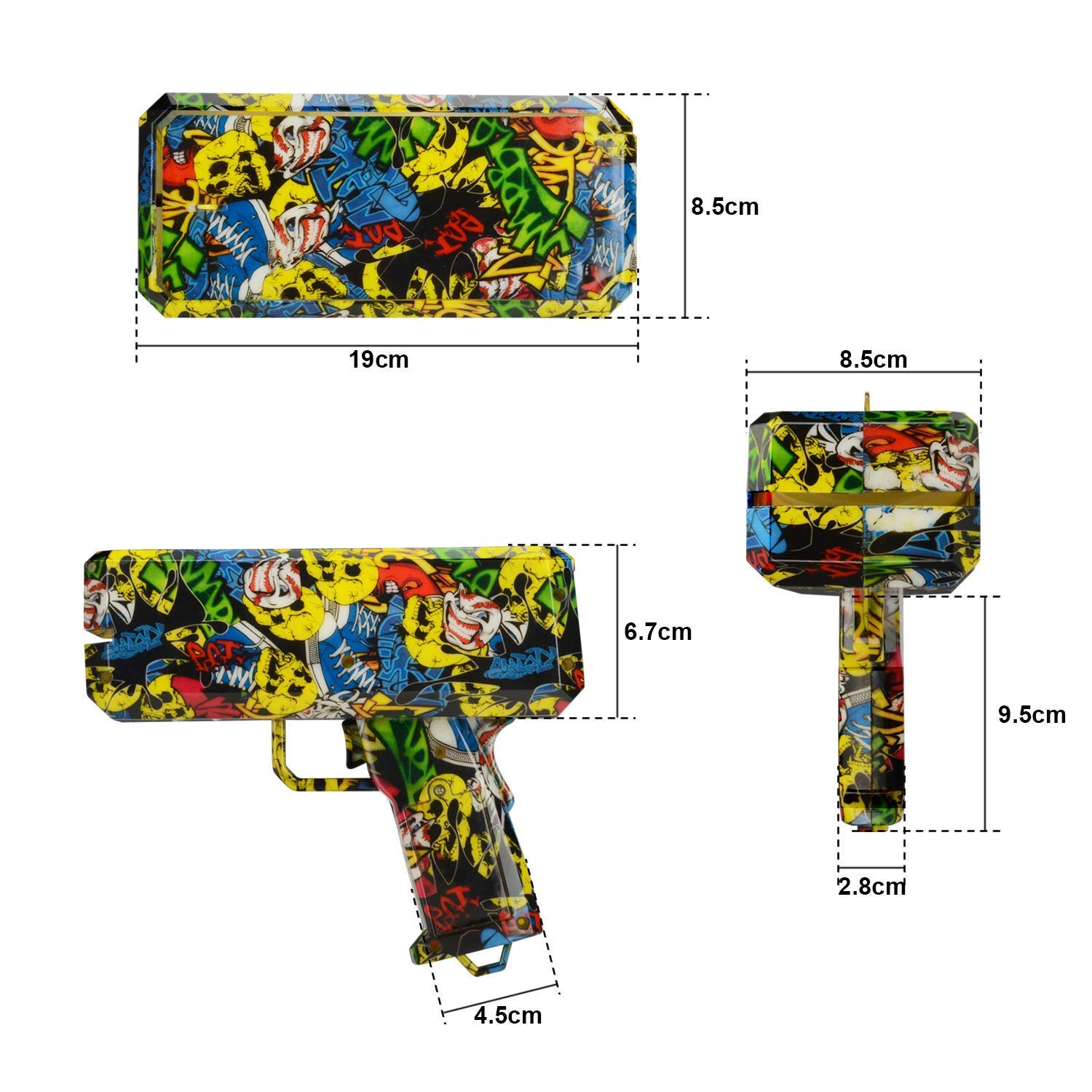 DDGG Make It Rain Money Gun Cash Gun Christmas Gift Cash*200 by DDGG (Image #2)