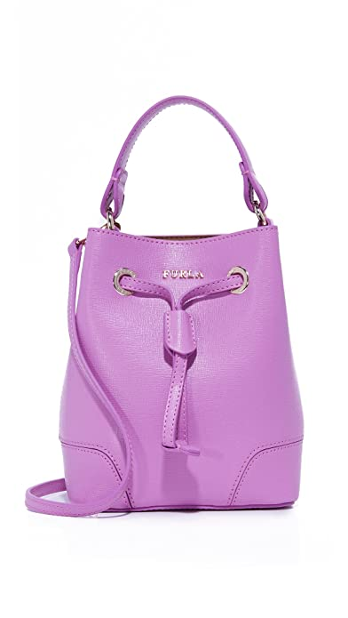 Amazon.com: Furla Women's Stacy Mini Drawstring Bag, Lilla,, One ...