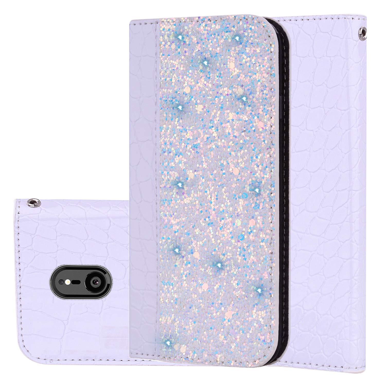für Smartphone Sony Xperia XZ3 Hülle, Leder Tasche für Sony Xperia XZ3 Flip Cover Handyhülle Bookstyle mit Magnet Kartenfächer Standfunktion (1) Laoke