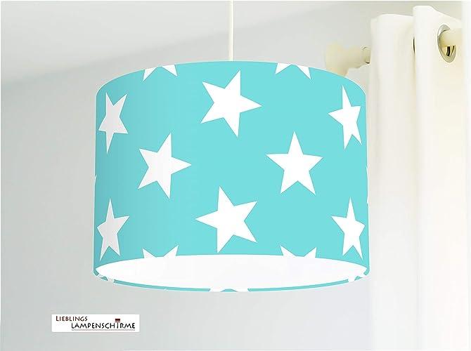 Lampe Kinderzimmer mit großen Sternen in Türkis fürs ...