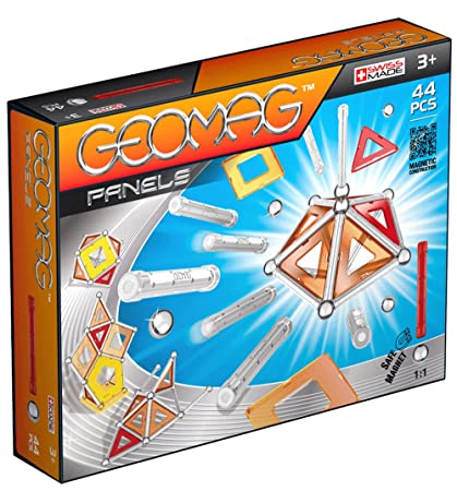 Geomag 44-Piece Construction Set with Assorted Panels Mentally Stimulating for Children and Adults Safe