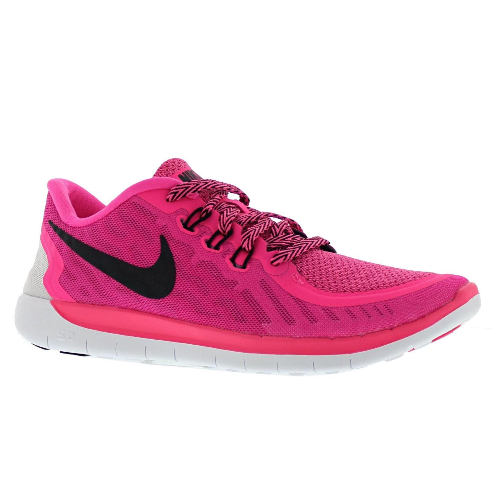 ee6348a8c Galleon - NIKE Kids Free 5.0 (GS) Pink Pow Black Vivid Pink Wht Running Shoe  6.5 Kids US