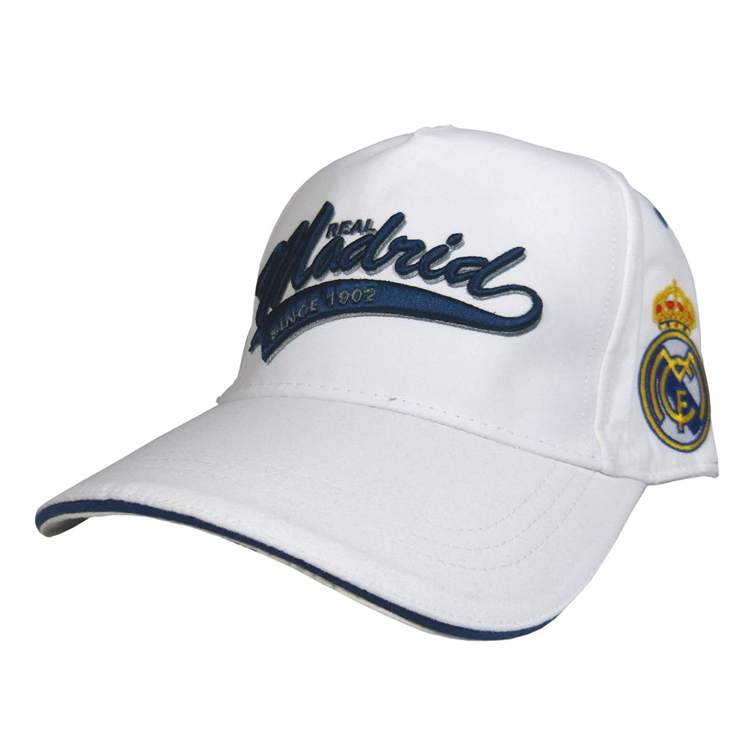 GORRA OFICIAL REAL MADRID BLANCA AVANCE TEMP. 17 ADULTO: Amazon.es ...
