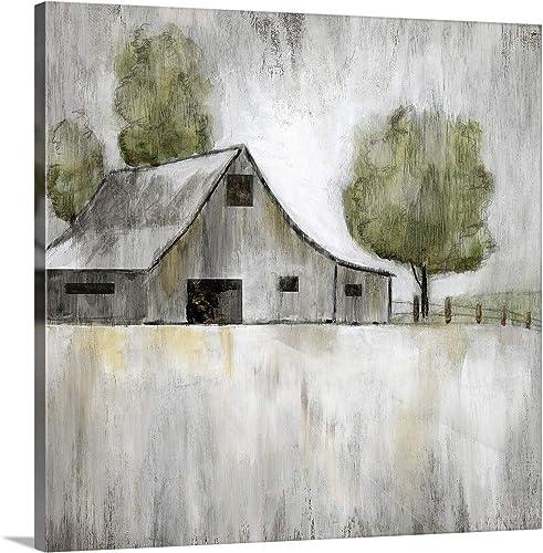 Weathered Barn Canvas Wall Art Print
