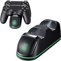 PICTEK Cargador Mando PS4, Soporte Mando ps4 USB con LED Indicador, Estación de Carga ps4, Compatible con Playstation4…