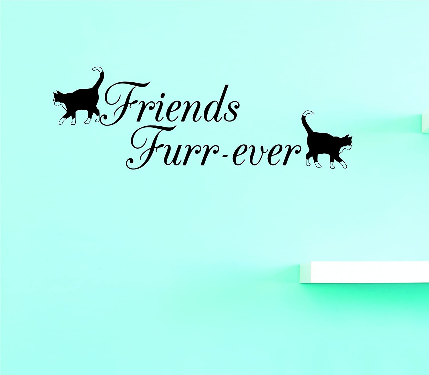 Design with Vinyl JER 2196 1 Hot New Decals Friends Furr-ever Wall Art Size: 8 Inches x 20 Inches Color: Black 8' x 20'