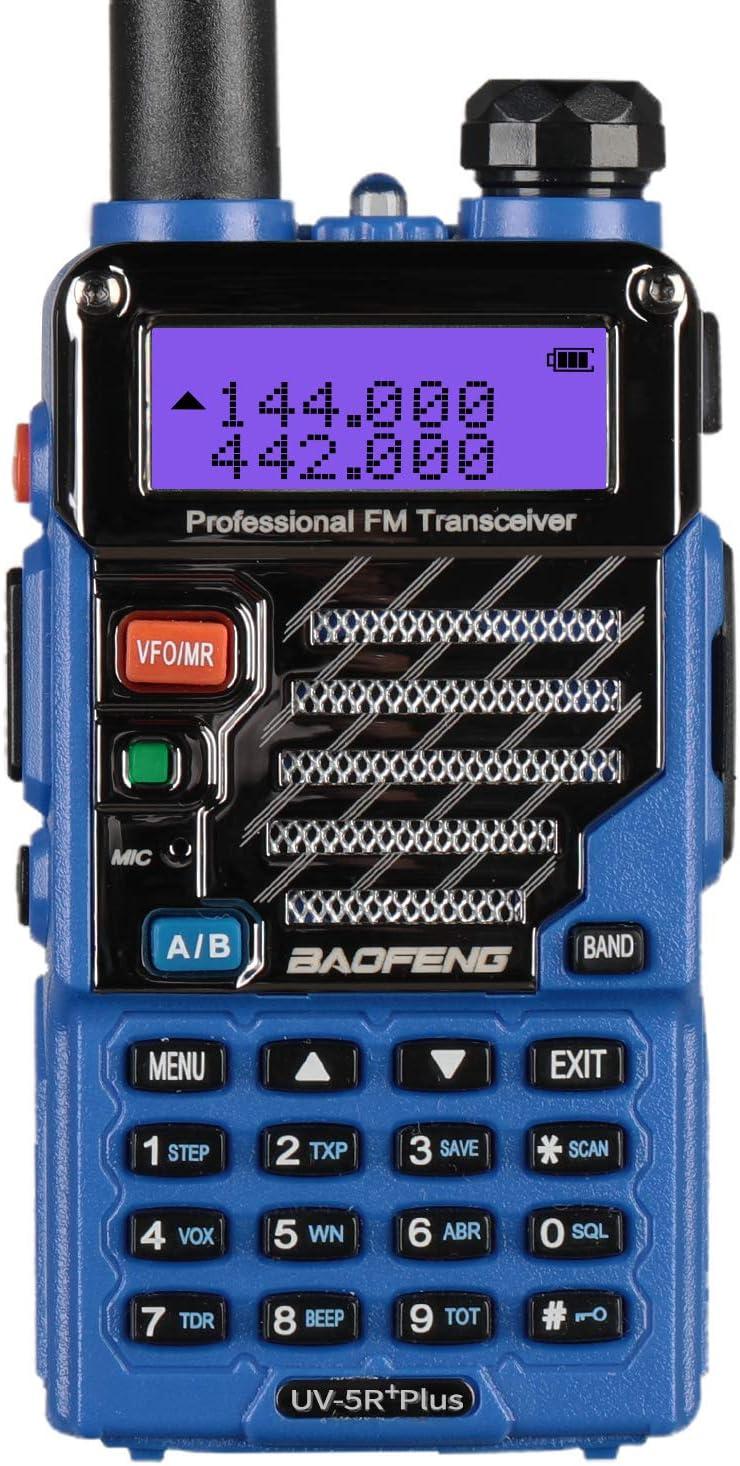 BAOFENG UV-5R Plus Qualette 5W Dual Band Two Way Radio Walkie Talkies (Royal Blue)